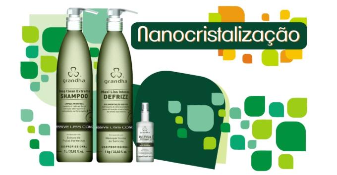 Nano cristalização é a cristalização da Grandha, novo conceito de liso intenso para todos os tipos de cabelo.