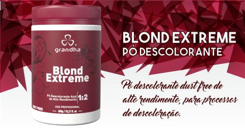 Produtos cosméticos Grandha. Pó descolorante Grandha, Blond Extreme, dust-free, não levanta pó e tem alto rendimento.