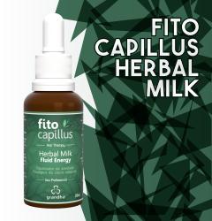 Finalizador Fito Capillus Herbal Milk, utilizado na terapia capilar para tratamentos de calvície e alopecia.