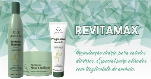 Cosméticos Grandha. Revitamax Home Care da Grandha, kit para consumidor final de programa de revitalização dos cabelos.