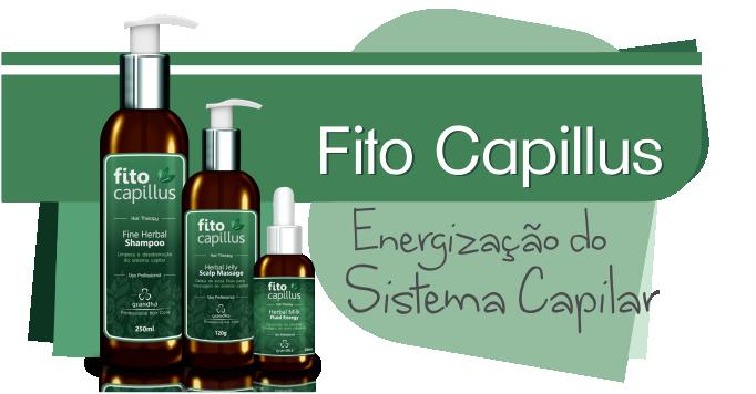 Fito Capillus da Grandha, utilizado na terapia capilar para tratamentos de calvície e alopecia. Tratamento extremamente eficaz no controle de distúrbios de oleosidade, tanto no couro cabeludo, quando ao longo de todo o comprimento dos fios de cabelo.