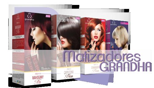 Linha de matizadores Grandha. Os melhores matizadores do Brasil. Linha completa para todos as necessidades do cabelo colorido.