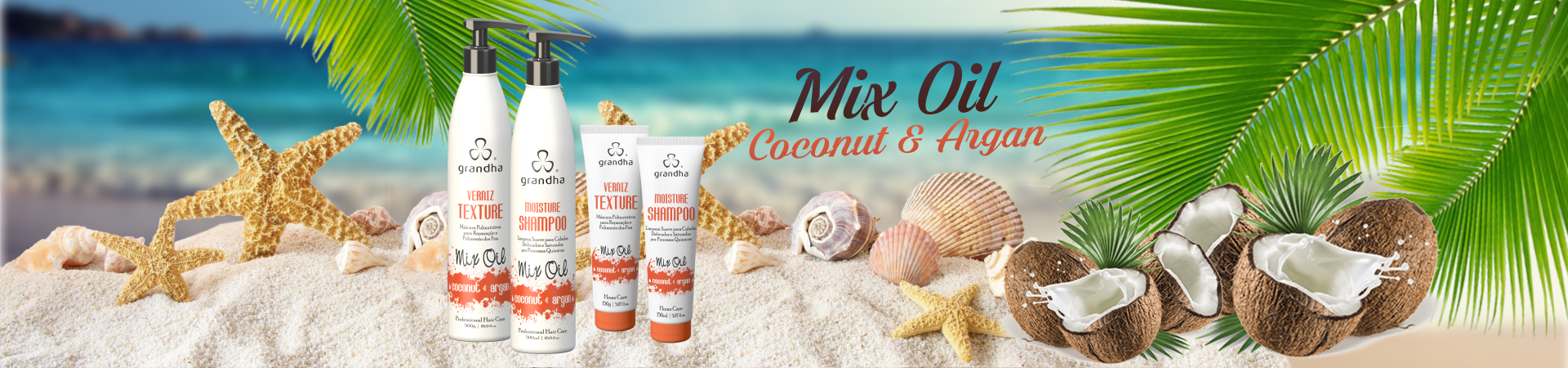 Mix Oil Coconut & Argan Grandha Primavera Verão 2016