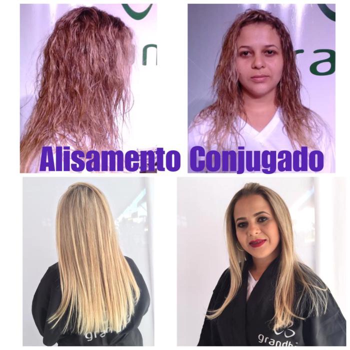 Alisamento conjugado Grandha, com Tioglicolato de AMP. Jornada Técnica Grandha Campinas 2017.