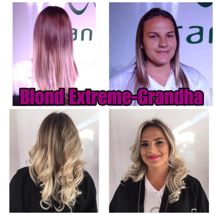 Blond Extreme Grandha. Coloração e descoloração profissionais. Jornada Técnica Grandha Campinas 2017.