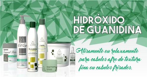 Produtos cosméticos Grandha. Hidróxido de Guanidina da Grandha. Alisamento capilar.