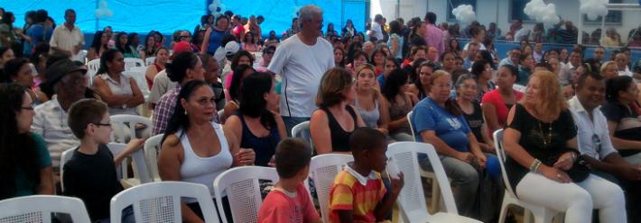Mart'bel apoiou o evento social da prefeitura de Taboão da Serra, SP.