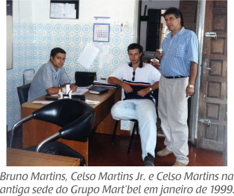Grupo Mart'bel em seus primórdios, em 1999.