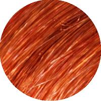 Amostra de cabelo sobre o qual o Matiz P.74 Cinnamon Brown deve ser aplicado.