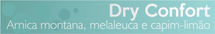 A linha de terapia capilar, Flores e Vegetais, traz em Dry Confort a combinação da arnica montana com o capim-limão, potencializados com o óleo essencial de melaleuca.