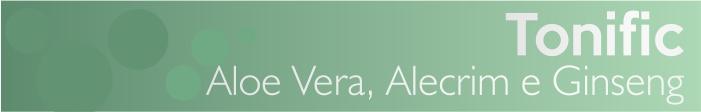 A linha de terapia capilar, Flores e Vegetais, traz em Tonific a clássica associação dos extratos de aloe vera, alecrim e ginseng, para tonificar e fortalecer os cabelos.