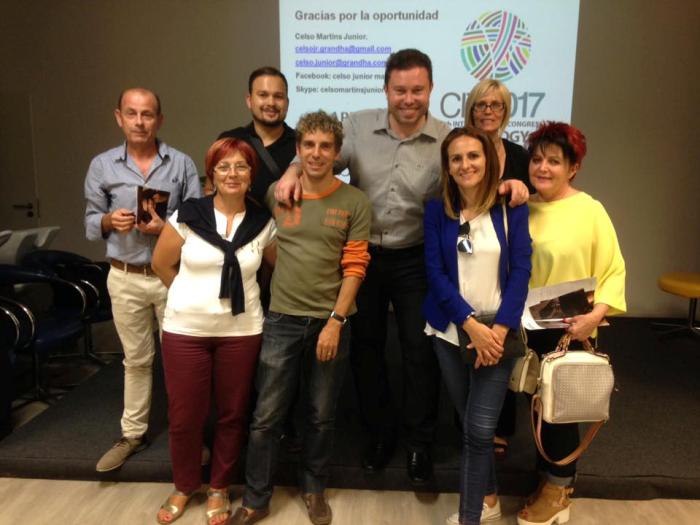 Grandha Portugal, reunião com profissionais em Coimbra, com Celso Martins Junior.