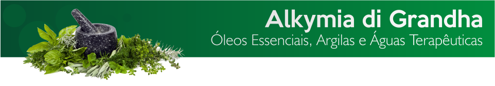 Banner Alkymia di Grandha. Óleos Essenciais, Argilas Terapêuticas, Água Terapêutica.