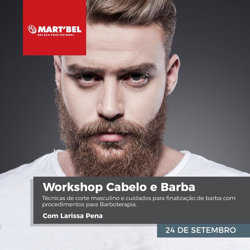Workshop Cabelo e Barba - Técnicas de corte masculino e cuidado para finalização de barba com procedimentos para Barboterapia.