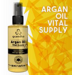 Argan Oil é um finalizador da Grandha à base de óleo de argan para hidratação profunda e toque aveludado.