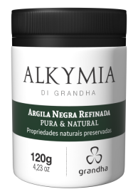 Argila Negra Alkymia di Grandha, argila pura refinada para terapia capilar.