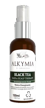 Black Tea Alkymia di Grandha, benefícios do chá preto para a terapia capilar.