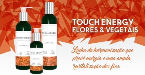 Touch Energy Grandha, terapia capilar Flores e Vegetais.