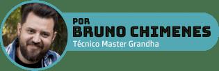 Bruno Chimenes é terapeuta capilar formado pela Academia Brasileira de Tricologia, cabeleireiro com mais de 20 anos de experiência, Técnico Master da Equipe Grandha Hair Care, docente do programa Papa Beauty e responsável técnico Grandha no estado de Santa Catarina.