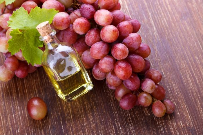 Óleo de semente de uva.