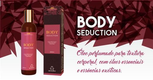 Body Seduction é um óleo perfumado para textura corporal. Grandha 20 Anos.