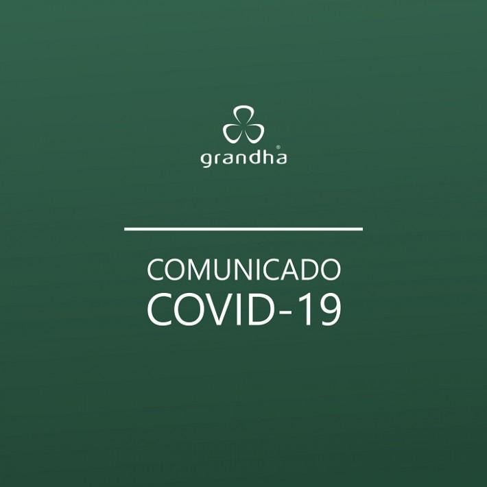 Comunicado Grandha sobre a pandemia de coronavírus (Covid-19).