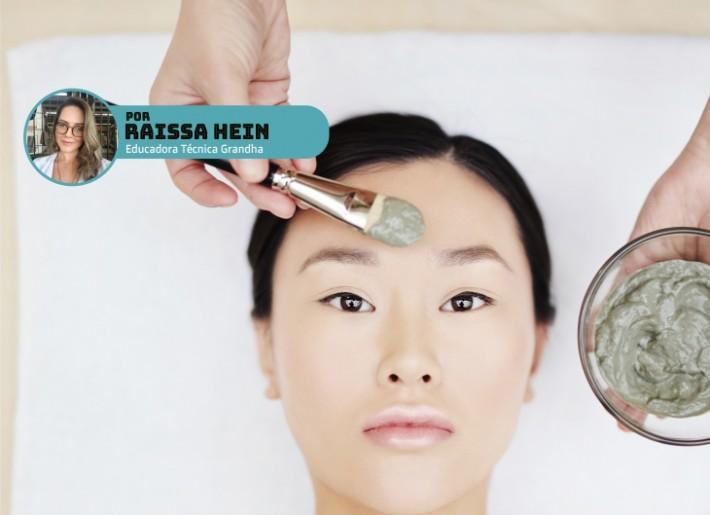 Argila verde para acne, ideal para pele oleosa com espinhas.