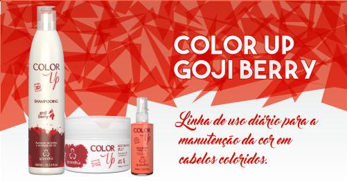 Produtos cosméticos Grandha. Color Up Goji Berry da Grandha, tratamento para aumento do brilho e proteção da cor.