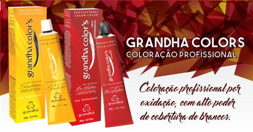 Produtos cosméticos Grandha. Coloração profissional Grandha Colors, tintura sem amônia com alta variedade de cores.