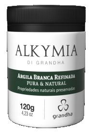 Argila Branca Alkymia di Grandha, argila pura refinada para terapia capilar.