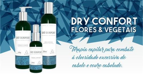 Dry Confort Grandha, terapia capilar Flores e Vegetais.