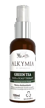 Green Tea Alkymia di Grandha, benefícios do chá verde para a terapia capilar.