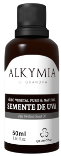 Óleo vegetal de semente de uva. Alkymia di Grandha. Terapia Capilar.