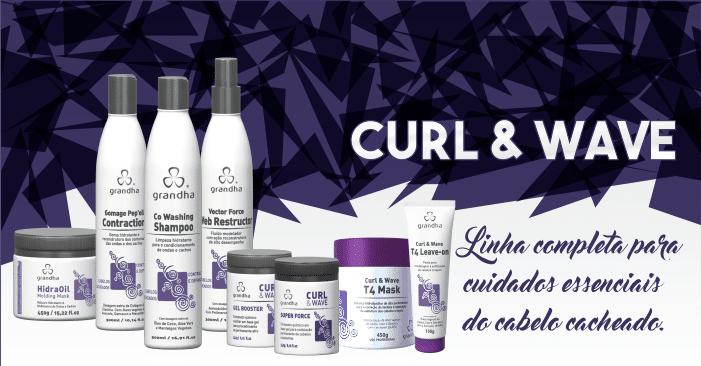 Curl & Wave Vector Force. Cuidados essenciais para o cabelo cacheado. Grandha.