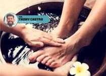 Escalda-pés é tratamento ideal para manter os pés hidratados.