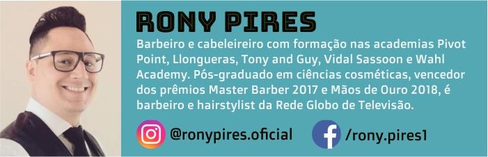 Rony Pires é barbeiro e hairstylist.