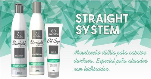 Cosméticos Grandha. Straight System da Grandha para consumidor final. Cuidado para cabelos alisados.